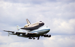 Hitch-hiking Space Shuttle