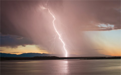 High-resolution desktop wallpaper Lightning over Lake Pueblo by gio.didomenico