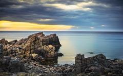 High-resolution desktop wallpaper Weathered Cliffs by Lowe Rehnberg