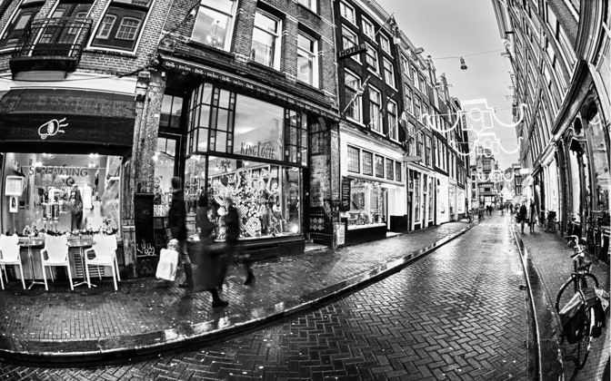 High-resolution desktop wallpaper A'dam - 9 straatjes by david.spinnael