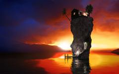 High-resolution desktop wallpaper Paradise Rock II by Jonathan Besler