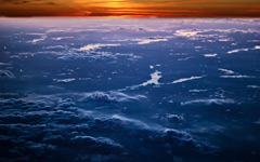 High-resolution desktop wallpaper Sunset above the Sky by Jonathan Besler