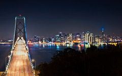 High-resolution desktop wallpaper Bright Lights, San Francisco by Michael kaldani