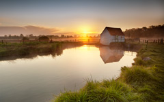 High-resolution desktop wallpaper The Old Fishing Hut by Fuzzypiggy