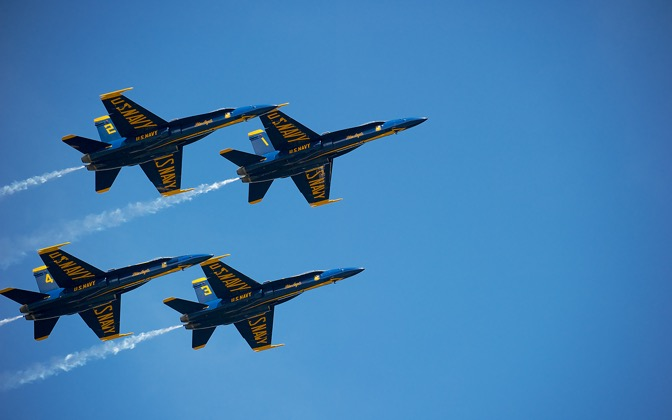 High-resolution desktop wallpaper Blue Angels over Fort McHenry by chickenwire