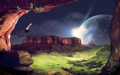 High-resolution desktop wallpaper The Lookout by fullcirclegfx