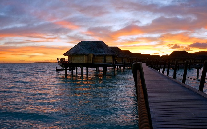 High-resolution desktop wallpaper Le Taha'a Island Resort by TJunkers