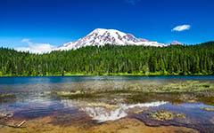 High-resolution desktop wallpaper Reflection Lake by Youen California