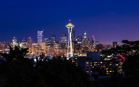 High-resolution desktop wallpaper Seattle Skyline by Youen California