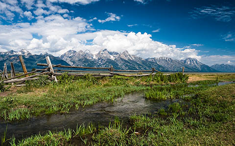 High-resolution desktop wallpaper Golden Teton Meadows by Dave Elysium