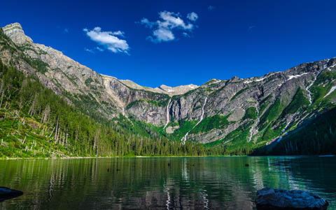 High-resolution desktop wallpaper Avalanche Lake by Youen California