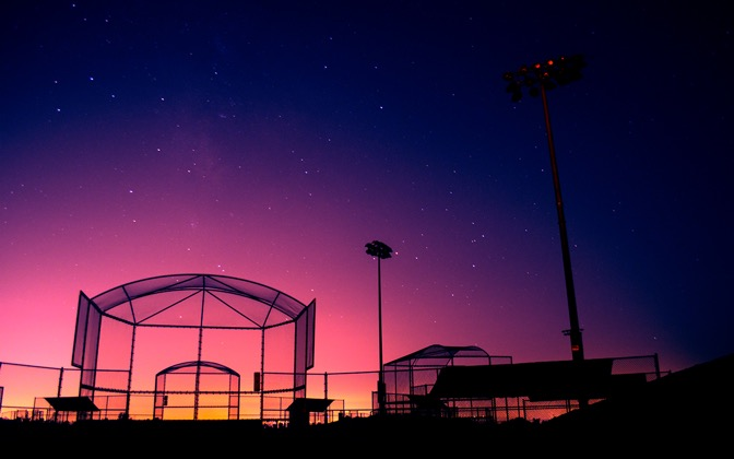 High-resolution desktop wallpaper Softball Cage by Makani Robinson