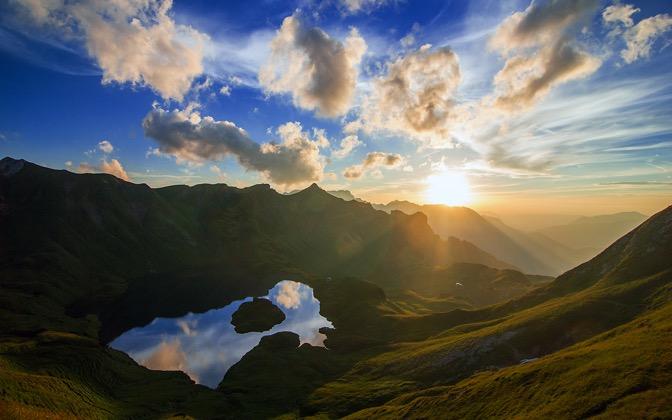 High-resolution desktop wallpaper Amazing Mirror Sunset by Jonathan Besler