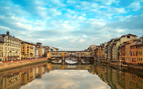 High-resolution desktop wallpaper Ponte Vecchio Reflection by johnhmoody