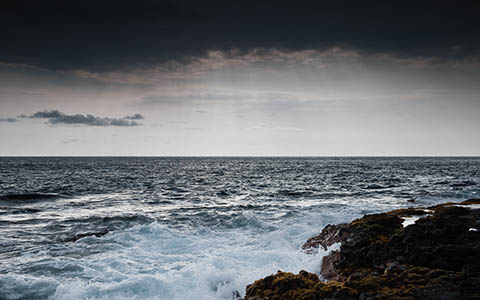 High-resolution desktop wallpaper Stormy Ocean by thekidder
