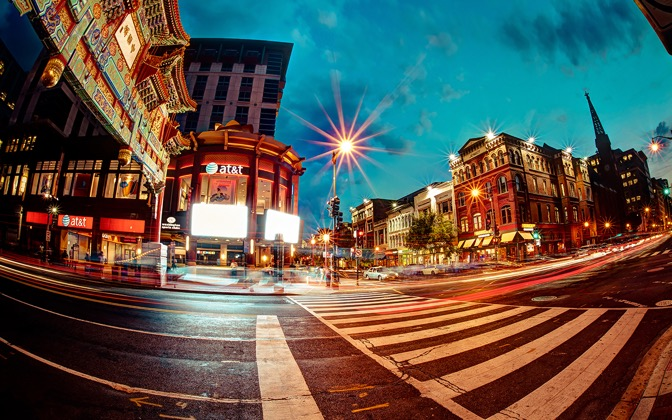 High-resolution desktop wallpaper Washington Chinatown by Nicolas Goulet