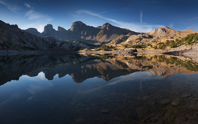 High-resolution desktop wallpaper Lac d'Allos by TheWanderingSoul