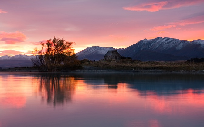 High-resolution desktop wallpaper Tekapo Dawn by Chris Gin
