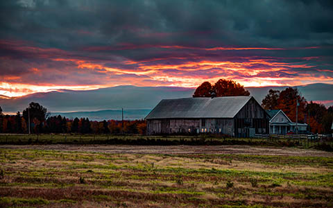 High-resolution desktop wallpaper A Fall Sunrise by Nicolas Goulet