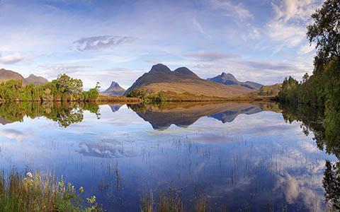 High-resolution desktop wallpaper Loch Cal Dromannan by Fuzzypiggy