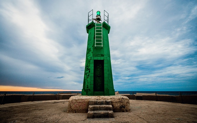 High-resolution desktop wallpaper Green Lighthouse by leonid.vilner@googlemail.com