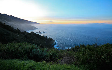 High-resolution desktop wallpaper Big Sur Sunrise by Andy Wilde