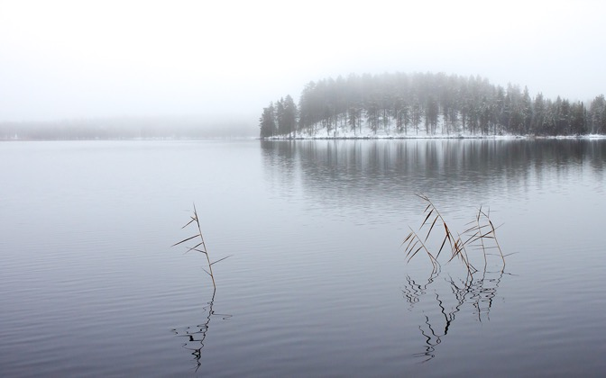 High-resolution desktop wallpaper Winter Lake by Datamakarna