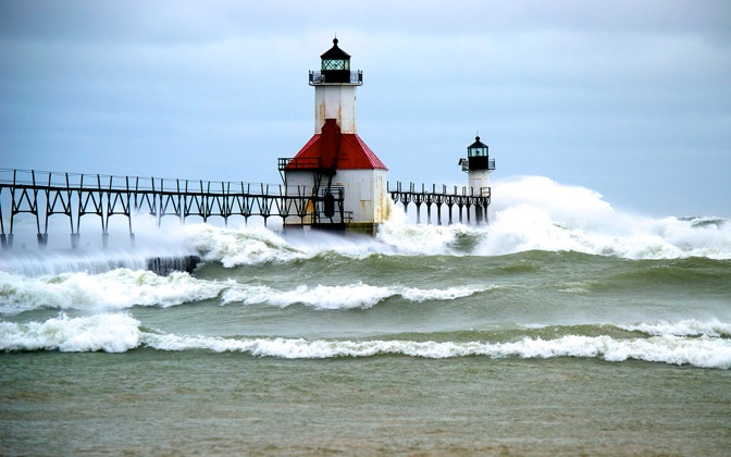 High-resolution desktop wallpaper Sandy's effects in Saint Joseph by nhuff1017