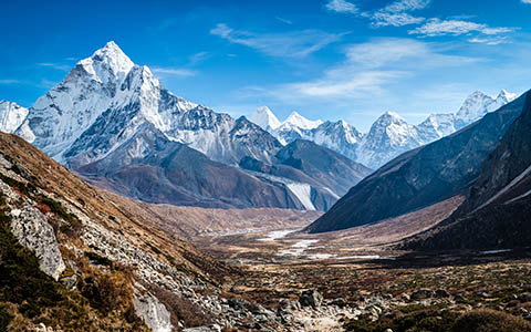 High-resolution desktop wallpaper Ama Dablam watches over the path to Pheriche by PiyushB