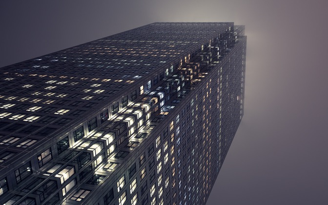 High-resolution desktop wallpaper Offices at Night by Jessica