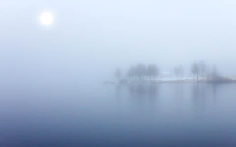 High-resolution desktop wallpaper Blue fog by Datamakarna