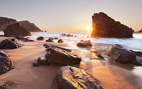High-resolution desktop wallpaper Praia da Adraga by emats