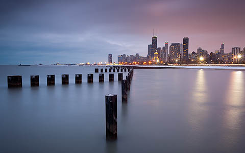 High-resolution desktop wallpaper Chicago North Side by ScottTurner
