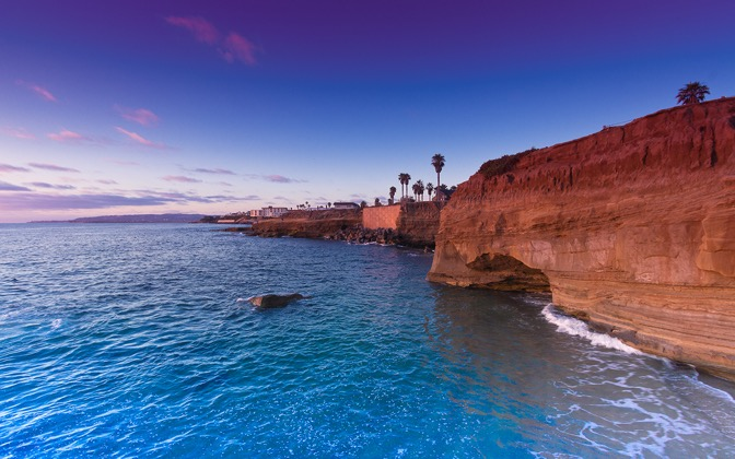 High-resolution desktop wallpaper Sunset Cliffs by Jeffery Hayes