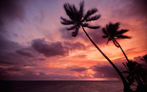High-resolution desktop wallpaper Purple Clouds by fotografieloft