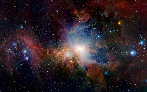 High-resolution desktop wallpaper Orion Nebula in the Infrared by Chris