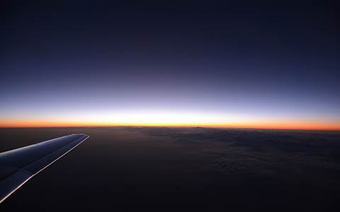 High-resolution desktop wallpaper Up in the Air - Sunset by Robin Kamp