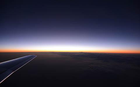 High-resolution desktop wallpaper Up in the Air - Sunset by Robin Kamp