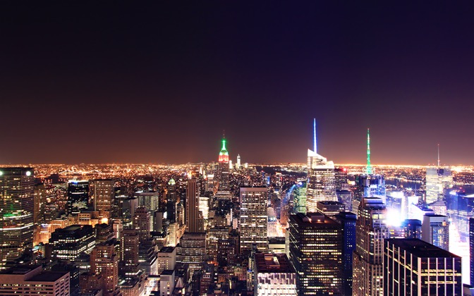 High-resolution desktop wallpaper New York City from Rock Center by Shteuf
