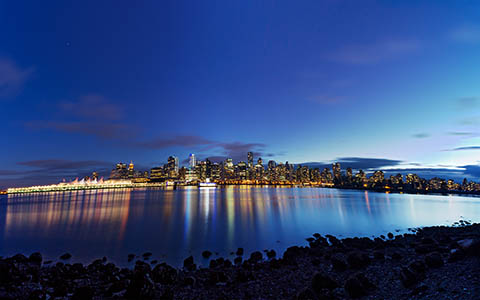 High-resolution desktop wallpaper Vancouver at Dusk by Mohsen Kamalzadeh