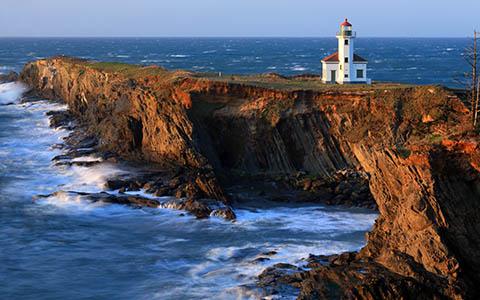 High-resolution desktop wallpaper Cape Arago Lighthouse by Robert Bynum