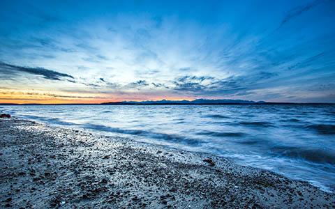 High-resolution desktop wallpaper Northwest Sunset by Jeffery Hayes