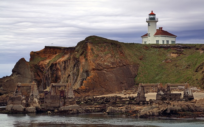 High-resolution desktop wallpaper Gregory Point Lighthouse by Robert Bynum