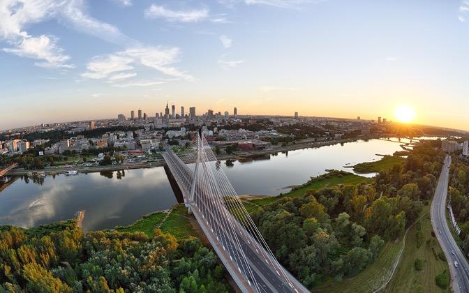 High-resolution desktop wallpaper Summer sunset over the Warsaw by Kamil Kurowski