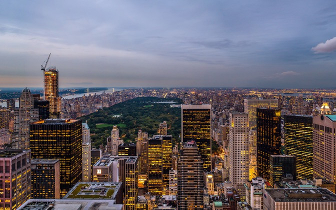 High-resolution desktop wallpaper From Rockefeller to Central Park by Wimair
