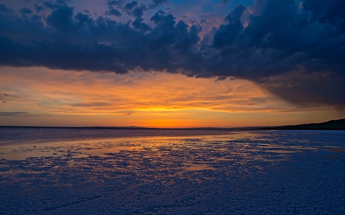 High-resolution desktop wallpaper Sunset at Salt Lake by Nitrogliserin