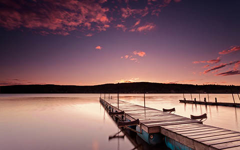 High-resolution desktop wallpaper Pink Sunrise by Nicolas Goulet