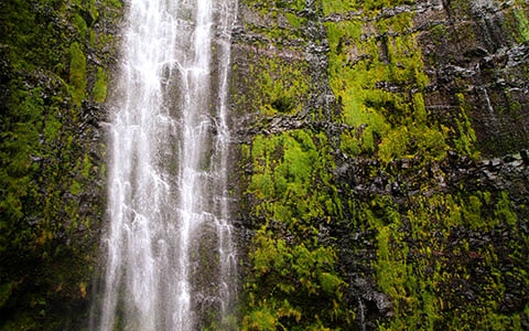 High-resolution desktop wallpaper Waimoku Falls by silent9k