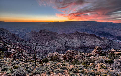 High-resolution desktop wallpaper Dusk at Grand Canyon by funksoulbrother