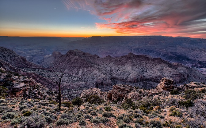 High-resolution desktop wallpaper Dusk at Grand Canyon by Andre Richter